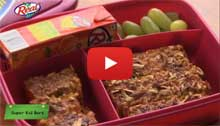 Lunch Box Recipes - Healthy Snack Bars Recipe