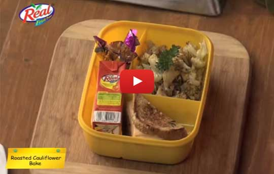 Lunch Box Recipes - Baked Cauliflower Recipe