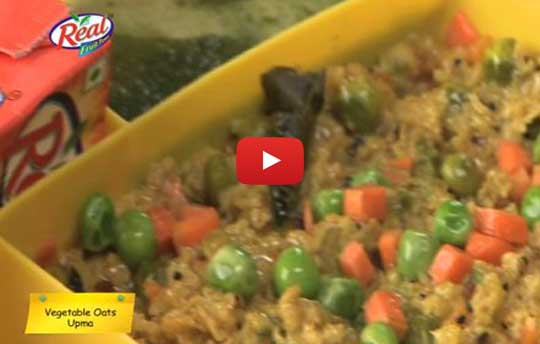 Lunch Box Recipes - Vegetable Oats Upma Recipe
