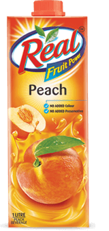 Peach Juice - Fresh Fruit Juices by Real