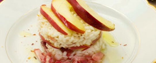 Healthy Recipes: Timbale with Apple slices Recipe