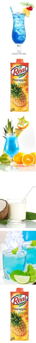 Recipe for Blue Hawaiian Mocktail Recipe
