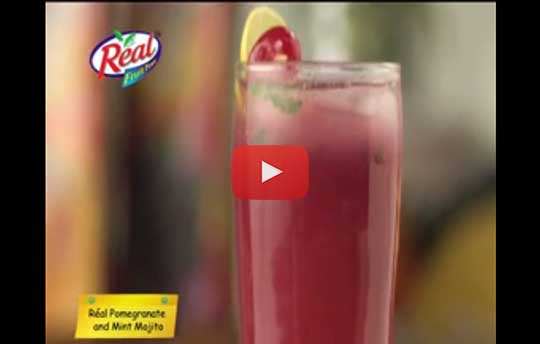 Pomegranate Juice Mint Mojito Recipe